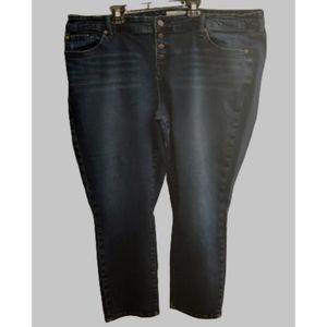 Torrid button fly crop jeans
